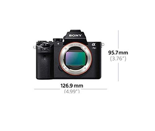 Sony Alpha ILCE-7M2K - Cámara EVIL (sensor Full Frame 35 mm, 24.3 Mp, estabilizador de 5 ejes, procesado en 16 bits, visor OLED, vídeo Full HD, Wi-Fi y NFC, objetivo 28-70 mm f/3.5 - 5.6 OSS) negro