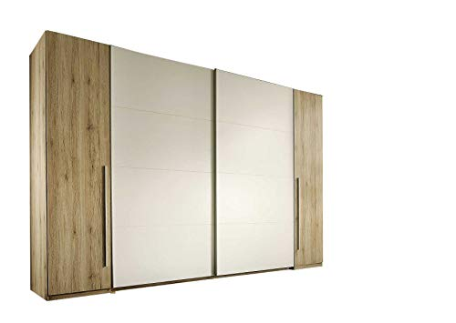 AVANTI TRENDSTORE - Armadio in colore quercia san remo/bianco, 316x226x61cm