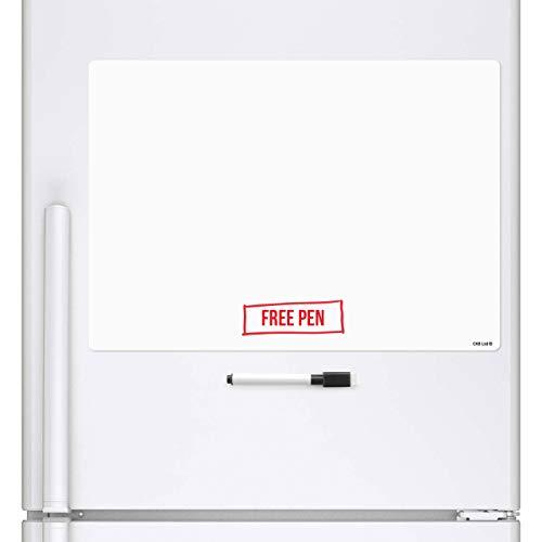CKB Ltd Blank A3Magnetica cancellabile a Secco, Foglio di Lavagna Magnetica da frigo Signage con...
