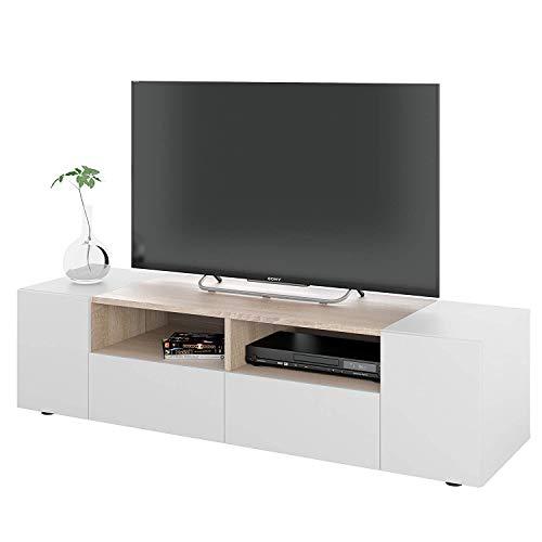 EGLEMTEK Artik Mobile da TV, Mobile Sala da Pranzo in Legno, Mobile Soggiorno TV con 2 Vani A...