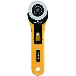 Olfa 9651 RTY-2/G - Cúter rotativo con cuchilla circular de 45 mm