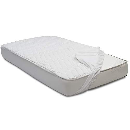 Beautyrest Kids Silver DualCool Technology Fitted Baby Crib Mattress Pad Cover, White