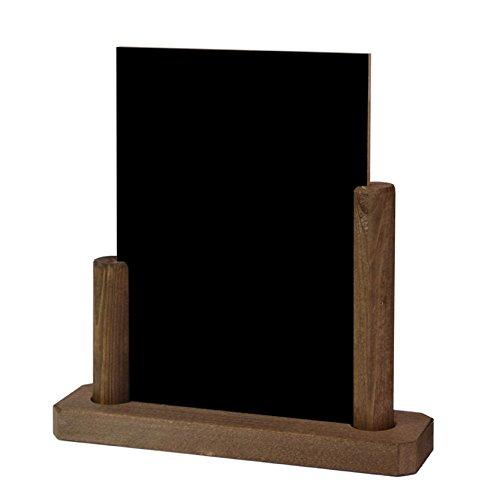 KS-04, lavagnetta/espositore da tavolo in legno formato A5, scrivibile su entrambi i lati con il...