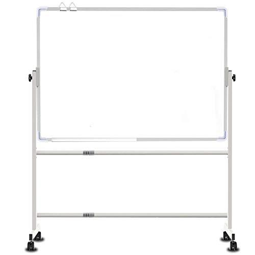 Lavagna magnetica bilaterale per lavagna mobile bianca bianca cancellabile per classe@80x120cm
