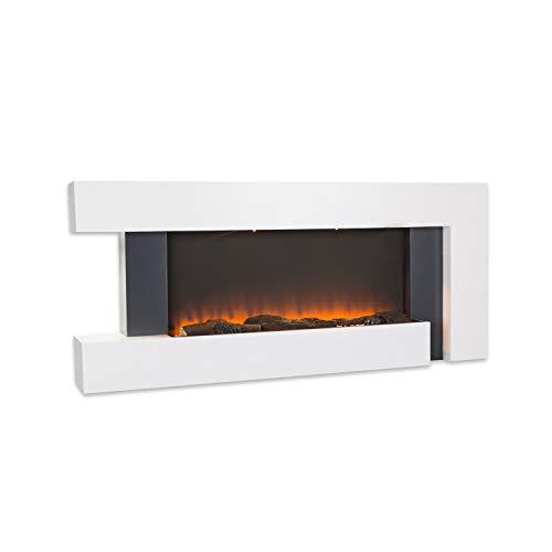 Klarstein Studio Light & Fire 1 - Caminetto, Camino Elettrico, Effetto Fiamma, 1000/2000 Watt,...