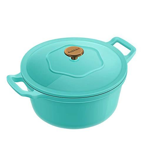 Kokkarl 3,9 L casseruola pentola smaltata pentole per stufati e brasati padella di zuppa forno...