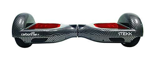 Itekk Hoverboard 6.5'' Carbon Fluo Plus, Assicurazione AXA 'Tutela Famiglia' inclusa, Rosso