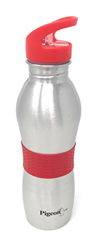 Pigeon Playboy Stainless Steel Sport Water Bottle, 700ml, Red