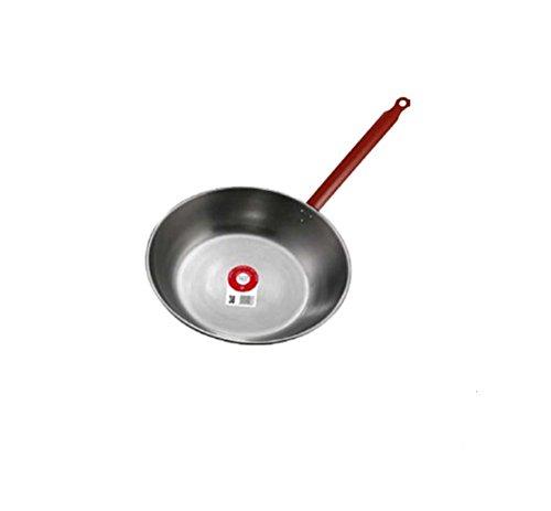 Garcima 10440 - Padella in ferro lucido con manico, 40 cm