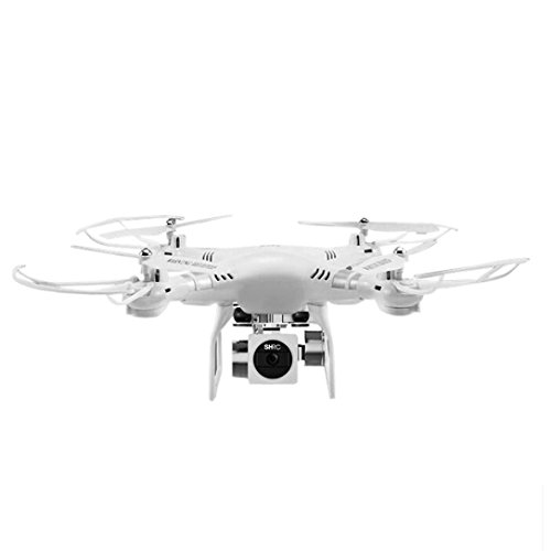 MMLC RC Quadcopter 1080P Wide Angle Lens 270 Degree Rotating HD Camera Drone FPV Gift (White)