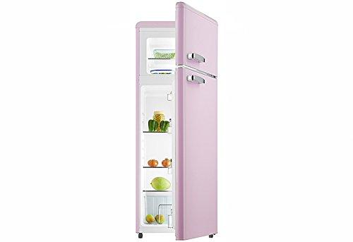 Retro frigorifero con combinazione di Pink glanz gk212.4rt a + + 206litri nostalgia design...