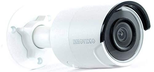 inkovideo V di 200-8MW 8MP POE ONVIF rete Videosorveglianza Telecamera di sicurezza visione notturna fino a 30m (bianco)