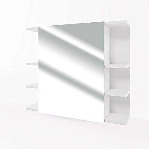 VICCO Spiegelschrank Fynn 80 cm - Badezimmer-Spiegel Hängespiegel Badspiegel Badezimmerspiegel (Weiß)