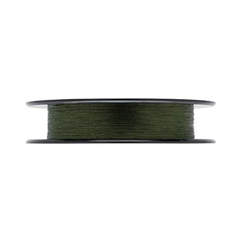 Daiwa J-Braid 8 Braid 0.18mm, 12.0kg / 26.5lbs, 300m dunkelgrün, rund geflochtene Angelschnur