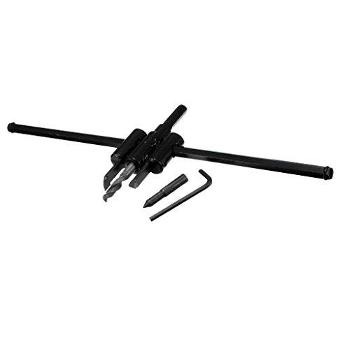 Sharplace Taladradora Aparato Bricolaje Ajustable Cortador Conjunto de Sierra Perforadora Broca para Jardin Facil de Usar - Negro, 325 mm