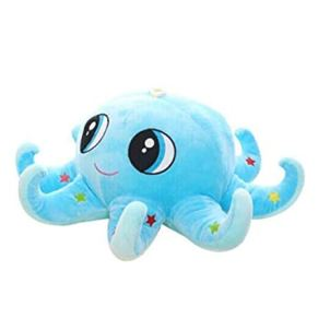 Wuhuizhenjingxiaobu Juguete de Felpa, Grande Almohadilla del Amortiguador de la muñeca de la muñeca de Trapo Pulpo Octopus Creativo muñeca, Azul 80 Cm ,Diseño Mental ( Color : Blue , Size : 60cm )