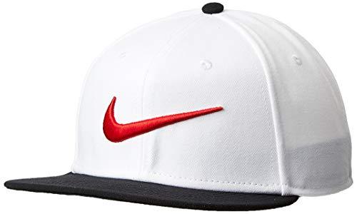 Nike PRO cap Swoosh Classic, Berretto Unisex - Adulto, White/Black/University Red, Taglia Unica