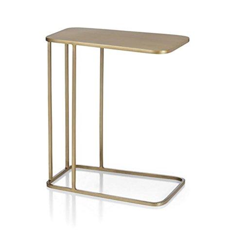 KJzhu Comodino dorato, divano creativo da tavolo, diversi lati, angolo, pochi tavolini da caffè,...