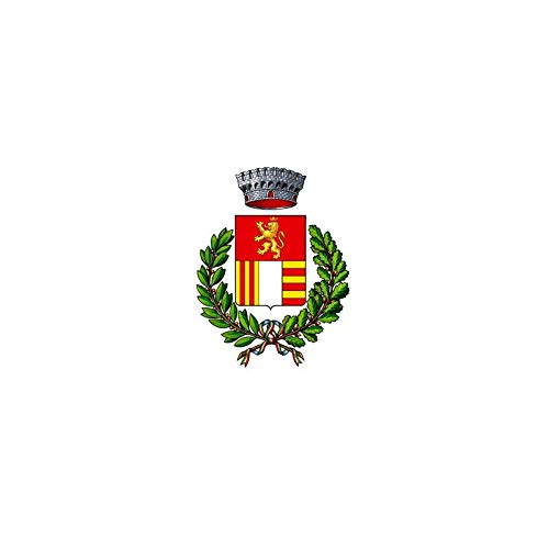 AL PRODUCTION Comune di Gabiano Mis. 150x220 Bandiera in Tessuto Nautico Confezionata con Corda E Guaina