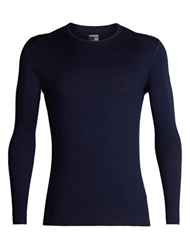 Icebreaker 200 Oasis LS Crewe Camiseta, Hombre, Azul (Midnight Navy), XL