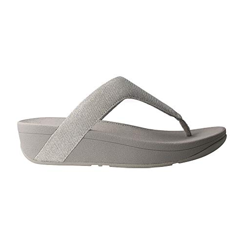 Fitflop Lottie Toe Post-Holiday Glitz, Sandali a Punta Aperta Donna, Argento (Silver 011), 37 EU
