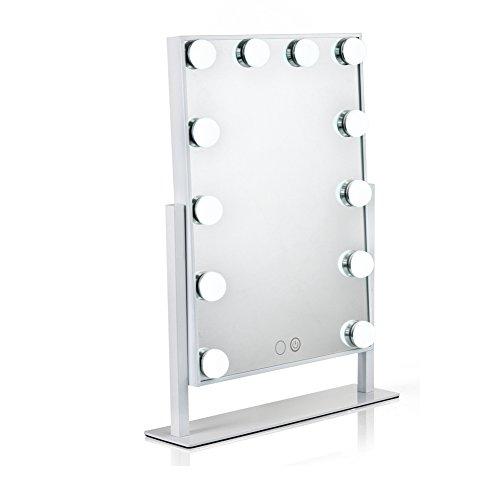 Waneway Hollywood specchio trucco illuminato con lampadine LED dimmerabili e design touch-control,...