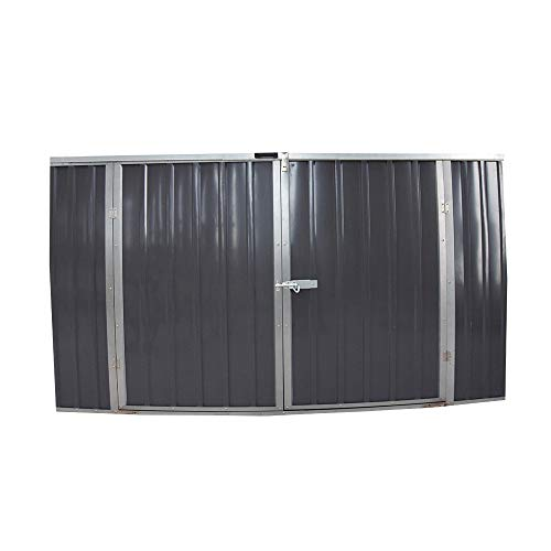 Keinode Garden Storage Shed Bike Metal Pent Tool Shed House Sovrapposizione in Acciaio zincato e Dip...