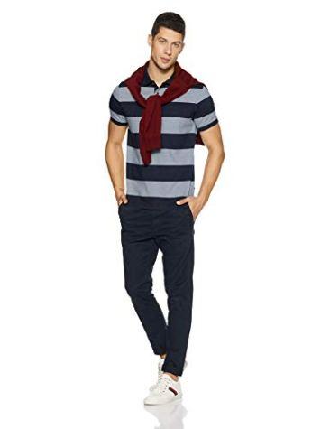 Indian Terrain Men's Striped Regular Fit T-Shirt 5