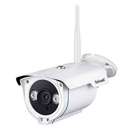 Sricam SP007 Telecamera di Sorveglianza Senza Fili WiFi 1080P IP66 Impermeabile Visione Notturna Rilevazione di Movimento Filtro IR Rilevamento del Movimento Allarme Email Videosorveglianza Camera