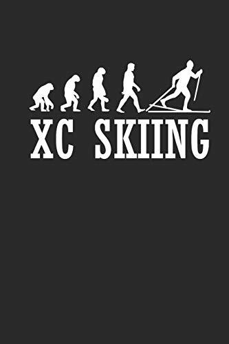 XC SKIING: Notizbuch Langlaufen Notebook Cross Country Skiing Journal 6x9 kariert squared