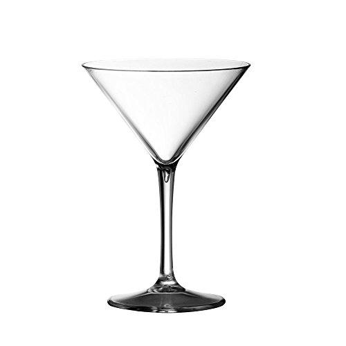 Coppetta in plastica da cocktail Coppa Martini Doimoflair Bicchiere riutilizzabile Martini 23 cl in Acrilico Trasparente Set di 6 pezzi