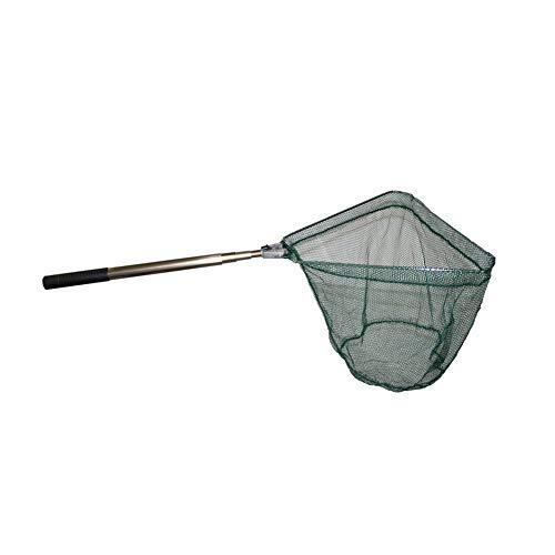 Durable Pesce guadino Auto pieghevole in nylon con Fish Net telescopico Pole maniglia Pesca Sportiva