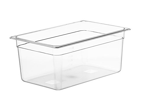 LIPAVI Contenitore Sous Vide Modello C15 - 18 Litri | Policarbonato resistente e trasparente. Si abbina con i coperchi per Anova, Joule e altri. 44,8 X 29,1 Altezza 20 cm.