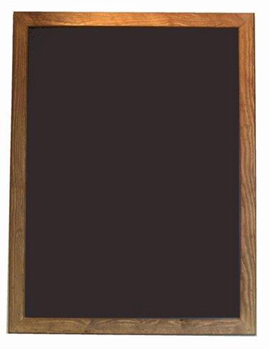 Moores Boards - Lavagna nera con cornice effetto anticato, 60 x 80 cm, 40 mm larghezza cornice