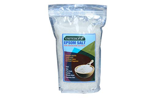Unitedly's ® Epsom Salt (Magnesium Sulphate) For Plant Growth & Plant Nutrient   Muscle Releif, Relives Aches & Pain, 400g