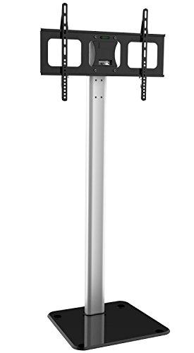 Techly 028863 Supporto a Pavimento in Alluminio per TV LCD/LED/Plasma 32-70' Nero/Argento