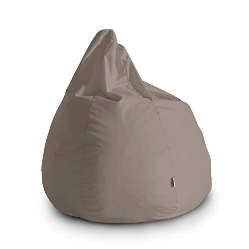 Avalon Pouf Poltrona Sacco Grande Bag L Jive 80x80x100cm Made in Italy in Tessuto antistrappo Imbottito Colore Tortora