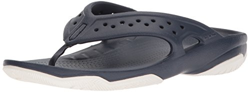 Crocs Swiftwater Deck Flip Men, Infradito Uomo, Blu (Navy/White), 41/42 EU