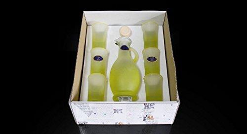 Bicchieri + bottiglia limoncello 7 pezzi 59326