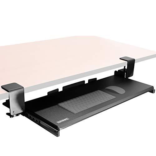 Duronic DKTPX1 Tastaturhalterung/Tastaturauszug/Tastaturauszug für Keyboard und Maus - Bietet eine weitere Schublade für die Tastatur unter dem Schreibitsch - Robuste und langlebige Konstruktion
