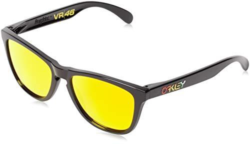Oakley Frogskins Valentino Rossi Signature Series gafas de sol, Negro, 55 Unisex-Adulto