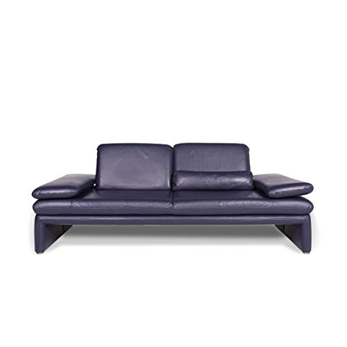 Willi Schillig Leather Sofa Purple two-seater couch