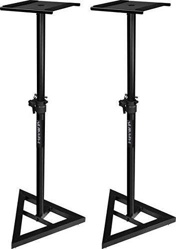 HAWK PROAUDIO Heavy Monitor Stands (Black, Size 7.6 x 7.6 x 132.2 cm) - Set of 2