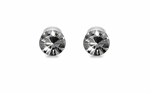 Solidindia Craft Silver Pair Of 5 Mm Magnetic Unisex Earrings For Non-Pierced Ears