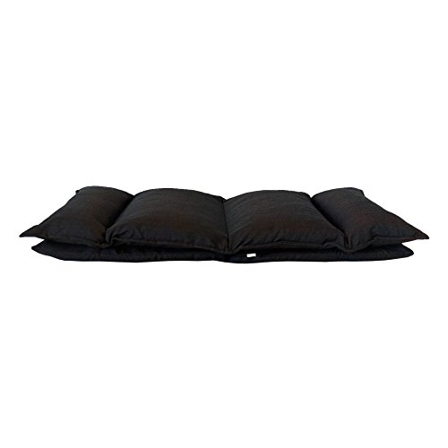 Rebecca Mobili Chaise de Méditation Siege de Sol Métal Noir Polyester Pliable Balcon Maison (Cod. RE6198) 25
