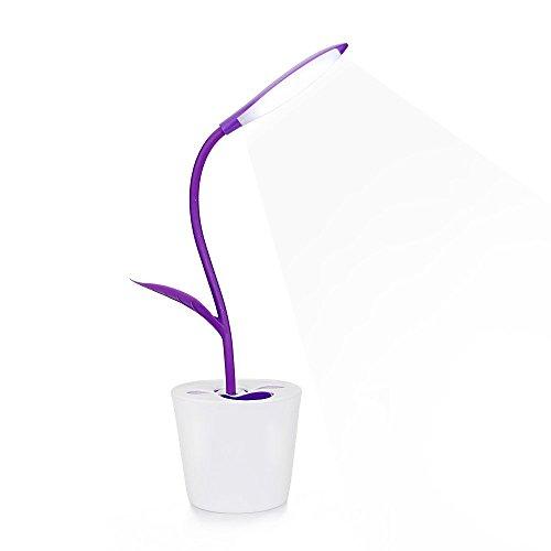 Schreibtischlampe Sapling Stifthalter Dimmable LED Table Lamp Children Night Lighting Flexible Leselampe Lila