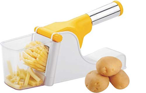 Tradific French Fries Cutter & Potato Chipser with Stainless Steel Handle (Colour May Vary)