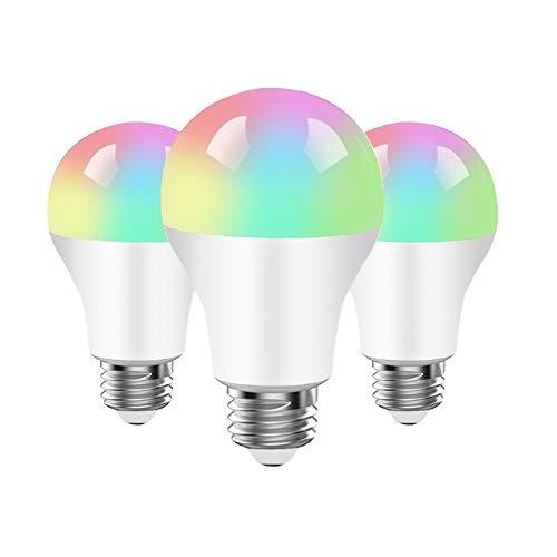 Lampadina Intelligente,BRTLX Lampadine Smart LED WiFi E27 9W RGB, 800LM Dimmerabile, Controllo iOS...
