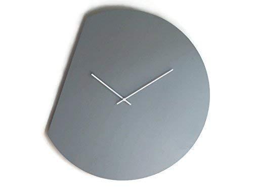 60cm Orologio gigante da parete senza ticchettio in molti colori come grigio Funzionamento a batteria Realizzato in multistrato di pioppo Design di orologi muro enormi e moderni da designer italiano