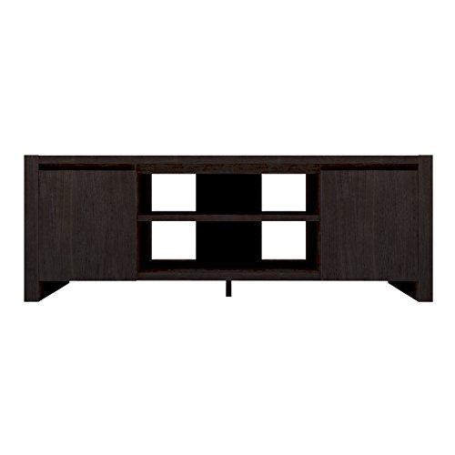 Furniture 247 - Mobile TV moderno a 2 ante in rovere nero